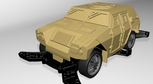 マイミニ四駆 3Dプリンターで作る