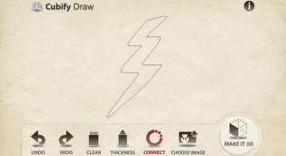iPhone 3Dプリンター関連アプリ(Cubify Draw)