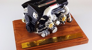 3Dプリンタで作成された「RB26DETT」エンジン